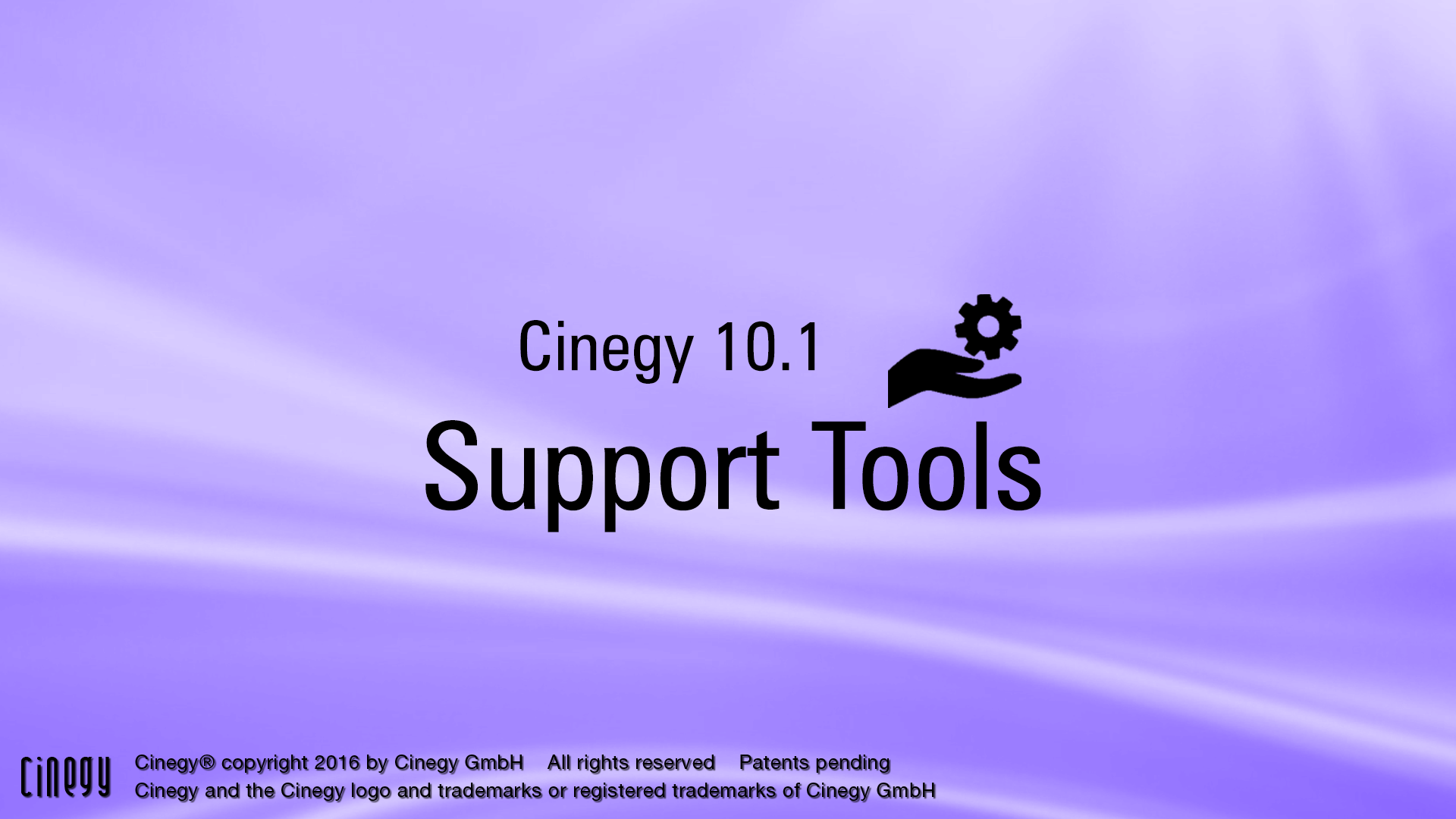 Cinegy Support Tool splash