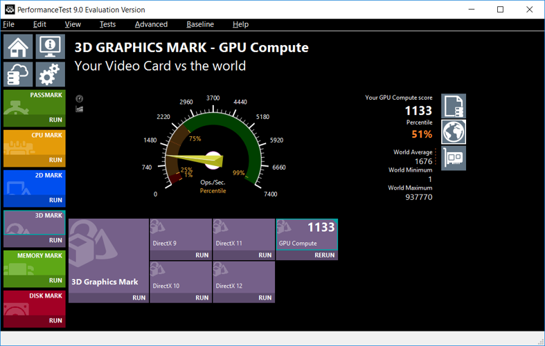 Passmark Performance Test GPU