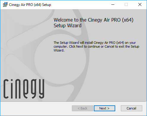 Cinegy Air Installation – Cinegy Open