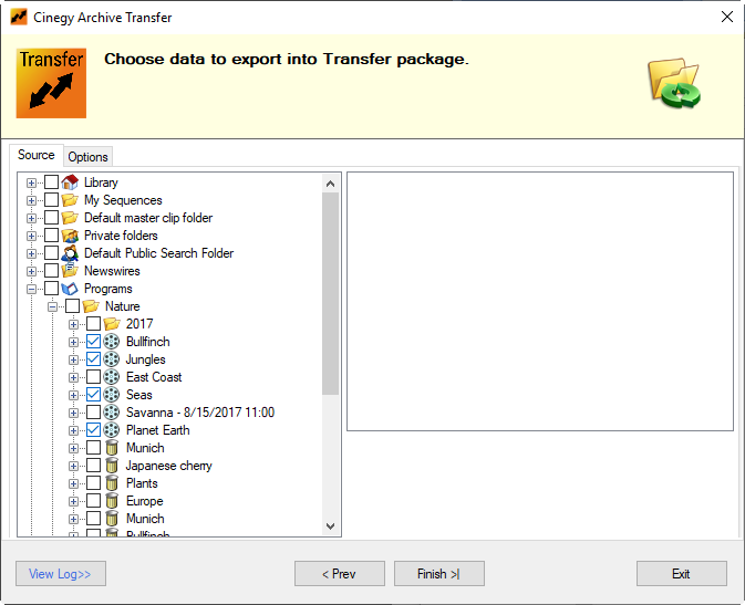choosing_files_for_export