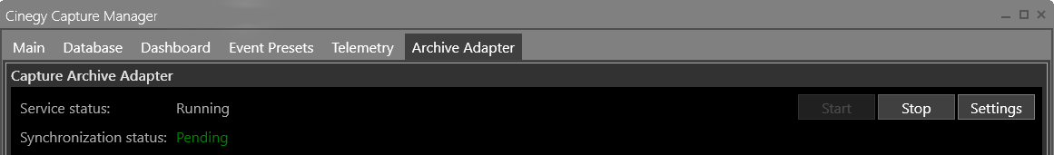 Archive_adapter_service_status