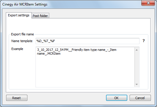Air_MCRItem_Export_settings