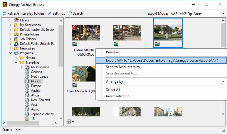 Export to Avid and Adobe (AAF+MXF workflow) – Cinegy Open