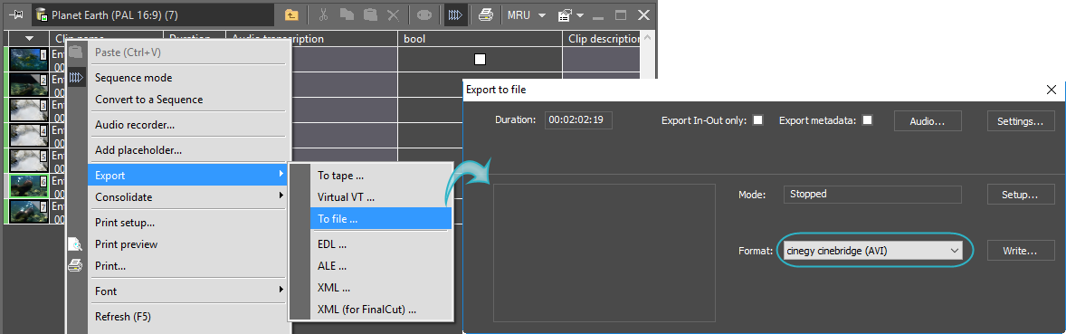 Export_to_Cinebridge