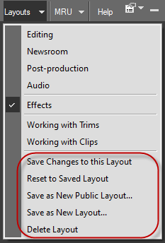Layout controls