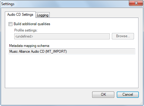 Audio CD Import – Cinegy Open