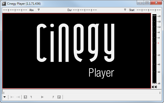 Cinegy Player interface